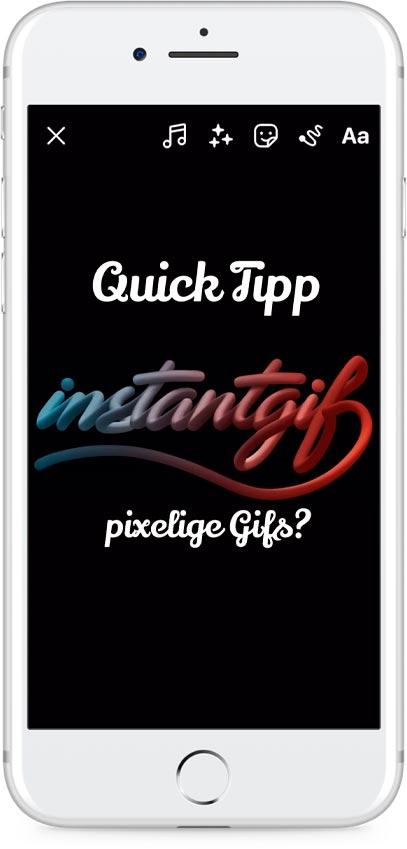Insta Quick Tipp Video. Wie bekomm ich große scharfe GIFs in meine Insta Story?
